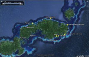 GPS map of Kadavu